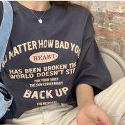 2020 新作 トップス Tシャツ レディース  コットン デザイン プリント 学生 韓国