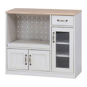 キッチンカウンター 幅90cm ナチュラル×ホワイト