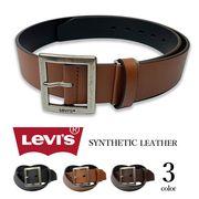 【全3色】 Levis リーバイス ギャリソン レザー ベルト 合成皮革 フェイクレザー