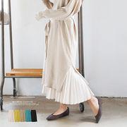 【2020春夏新作】平織りポリエステルプリーツスカート