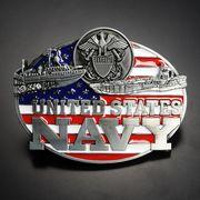 ベルトバックル 星条旗 アメリカ海軍 軍艦船
