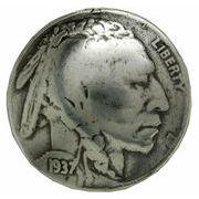 コインコンチョ インディアンヘッド 5セント レプリカ