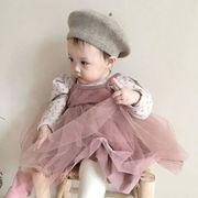 2020春 ベビーロンパース ボーダー 子供服 キッズ ワンピース スカート カバーオール