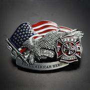 ベルトバックル 消防隊 イーグル 星条旗 REAL AMERICAN HERO