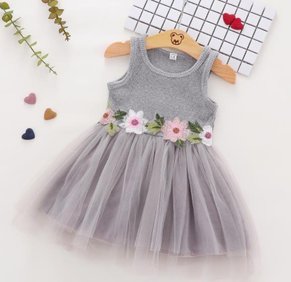 キッズワンピース 袖なし 女の子 子供服 夏 ワンピース 韓国ファッション
