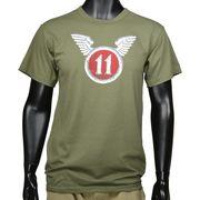 Rothco Tシャツ 半袖 11TH AIRBORNE オリーブドラブ