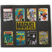 【ピンバッジ】MARVEL COMICS ピンズ8個コレクションBOXセット 80years