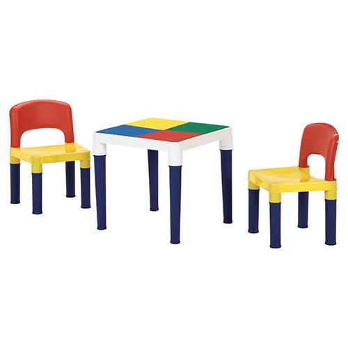 【ベビー/キッズ】テーブル&チェアーセット(100PCSブロック付)