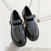 靴 女靴 春 新しいデザイン 何でも似合う 小さな靴 女性英国スタイル 厚底 ローファー