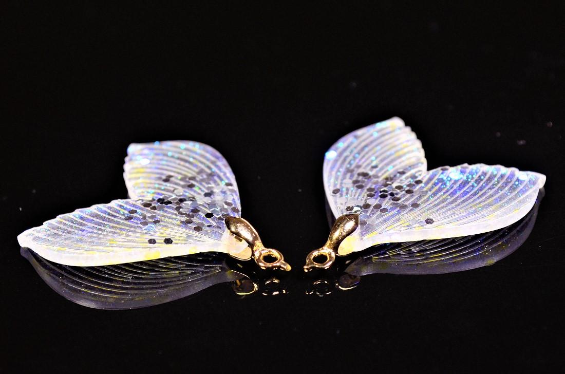 【夏アクセサリー】【樹脂製】ラメ入りマーメイドパーツ マリンチャーム 人魚姫 トレンドパーツ