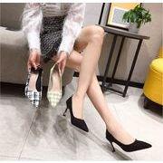 レディースファッション 春夏秋冬ol風女性ハイヒール 韓国ゴム底先頭細いヒール二つ着る方法熟女風靴