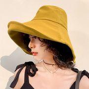 新作 帽子 ハット 個性 純色 日焼け止め ファッション 気質 韓国