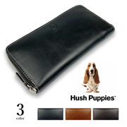 全3色 Hush Puppies ハッシュパピー リアルレザー バイカラー ラウンドファスナー長財布 ロングウォレット