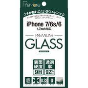 PreMore iPhone7&6S&6用 2.5D PREMIUM GLASS