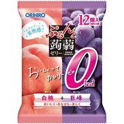 ぷるんと蒟蒻ゼリーパウチ カロリー0白桃+巨峰