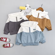 韓国ファッション 韓国子供服 カジュアル系 パーカー トップス 男女兼用 3色