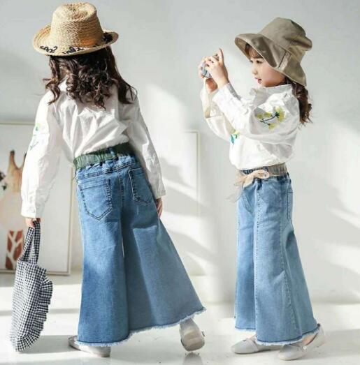2020新作  子供服 ズボン キッズ服  カジュアル系 女の子 デニムパンツ 7-15