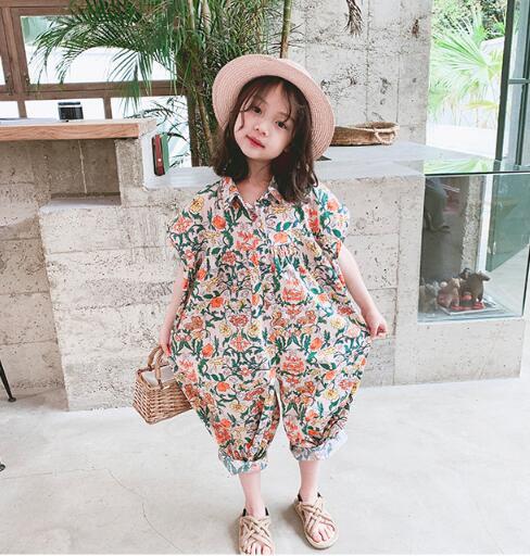 2020新作 韓国子供服 ベビー ロンパース カバーオール ジャンプスーツ 通園 女の子