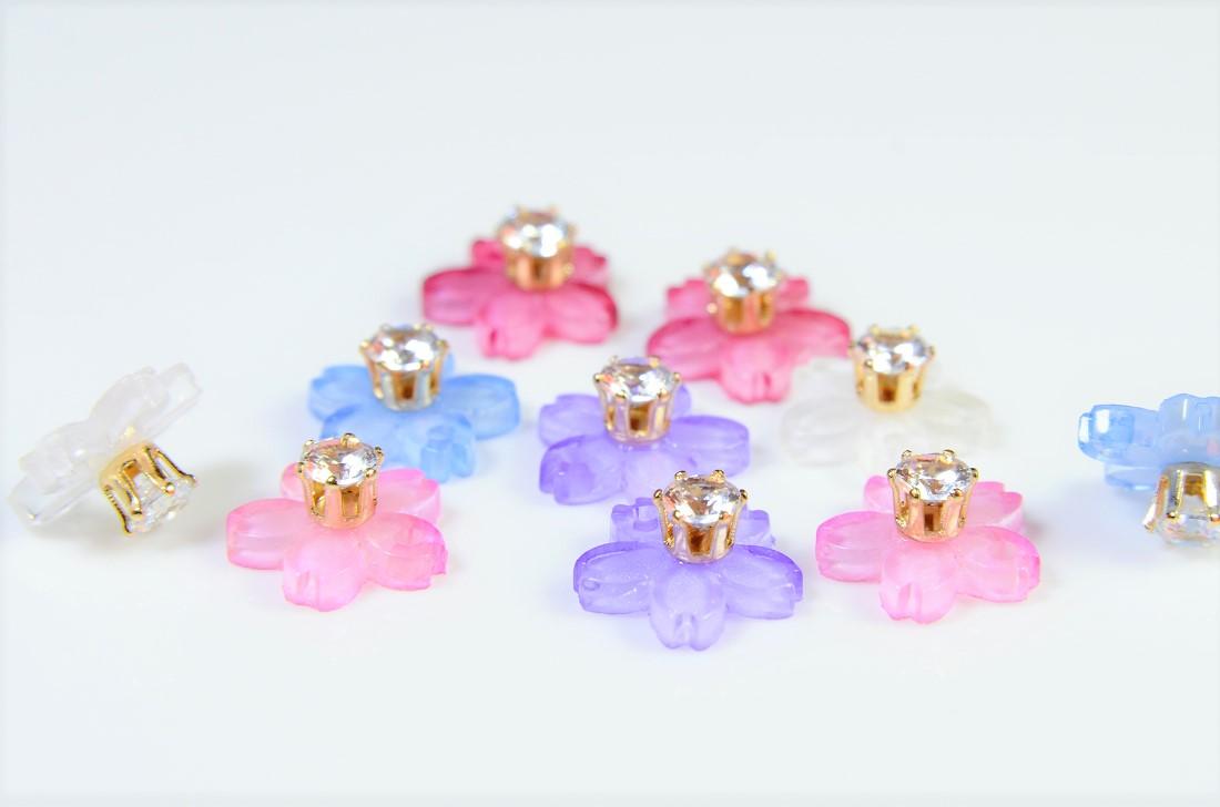【アソートペアセット】【春夏アクセサリー】桜さくらパーツ フラワーパーツ デコパーツ