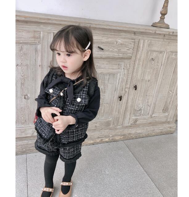 韓国ファッション 韓国子供服 上下セット 2点セット  2色 80-140