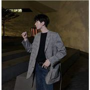 【お時間限定SALE】春 新品 ベルト付き スーツ コート 韓国  2020  メンズ  スーツ メンズファッション