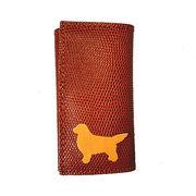 ◆本革6連キーケースとチャームのセット◆犬種カラーを選択可◆犬種全5色 レトリーバー
