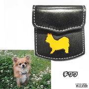 ◆犬種別 コインケース 小銭入れ 本革 レザー◆ハンドメイド 国産製◆チワワ