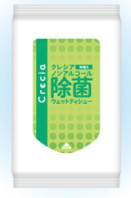 クレシア ノンアルコール除菌ウェット 10枚入