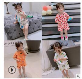 2020春夏新作 韓国ファッション 韓国子供服 上下セット 2点セット  キッズ女の子 4色