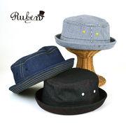 Rubenデニムポークパイハット ヤング帽子
