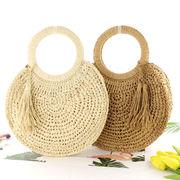 激安☆ins春夏森系◆ストローバッグ◆ハンドバッグ★トートバッグ★かごバッグ★タッセル 草編み鞄