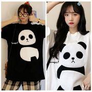 メール便662070】大きいサイズ☆パンダ プリント☆ デザイン Tシャツ LL~4L