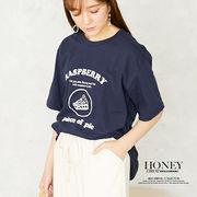 【2020春夏新作】ロゴ入半袖Tシャツ/RASPBERRY/トップス/韓国製