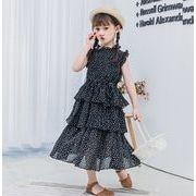 2020春夏新作★キッズワンピース★子供服★女の子★可愛い★ドレス★シフォン★120-160cm