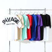 【2020春夏新作】8色展開 バックロゴ ユニセックス 発泡プリント BIG 半袖Tシャツ