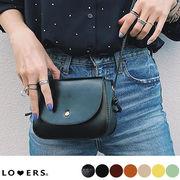 レザー調シンプルバッグ 【即納】クロコ調 秋色  鞄 ミニバッグ ポシェット合皮 斜め掛け