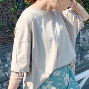 【2020春夏新作】ドロップショルダーオーバーTシャツ/トップス/韓国製/s10