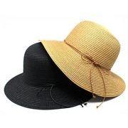 麦わら帽子 ストローハット ペーパーハット 涼しい UVカット 畳める サイズ調節OK
