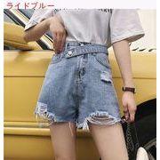 ハイウエスト 女性のジーンズ 夏 新しいデザイン 韓国風 ネット 赤いズボン ルース 着