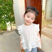 シャツ Tシャツ レース トップス 半袖 夏 キッズ 女の子 韓国子供服 2020新作 SALE ファッション