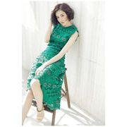 韓国ファッションオシャレレーススリム 着痩せ ワンピースレディース 夏