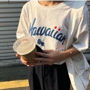 2020新作 トップス Tシャツ レーディス ゆったり 韓国風 人魚 オシャレ 夏