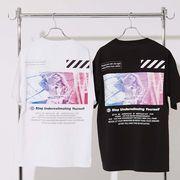 【2020春夏新作】ユニセックス デコレーション プリント BIG 半袖 Tシャツ