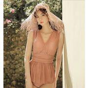 ラインを美しく演出!韓国ファッション みずぎ 新着 シンプル 気高い 可愛い 大人気 学生 水着