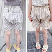 パンツ 半ズボン 子ども キッズ 新作 かわいい ストライプ カジュアル 人気