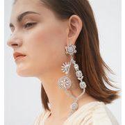 花のように綺麗です 誇張された 花柄 気質 キー イヤリング 上品映え イヤリング オシャレ ファッション