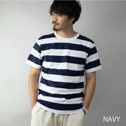 【2020新作】 Tシャツ メンズ 半袖 クルーネック ボーダー柄 カットソー ルームウェア ワンマイルウェア