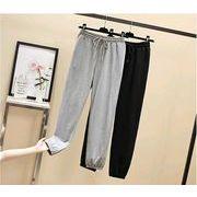 【大きいサイズL-4XL】ファッションパンツ♪ブラック/グレー2色展開◆