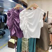 韓国ファッションレディース紐付きトップスオシャレ夏 新作