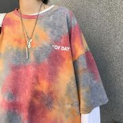 新作 Tシャツ オーバーサイズ デザイン オシャレ 韓国 絞り染め
